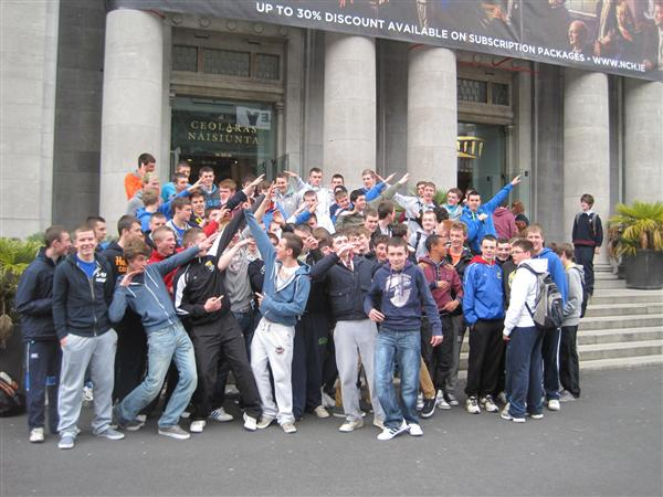 Transition Years outside the National Concert Hall.