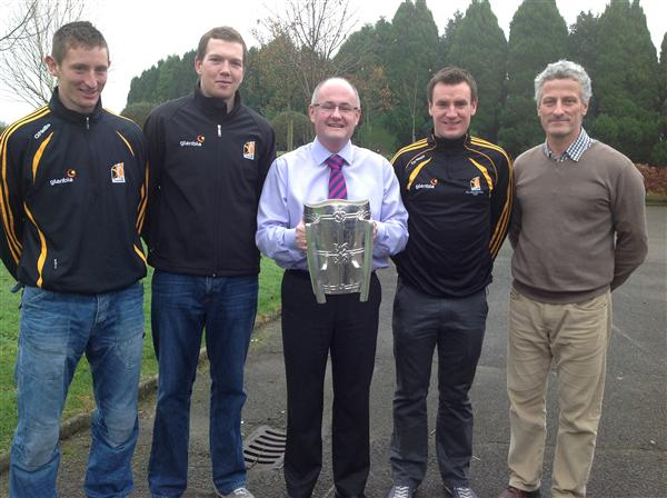 The 'Deise' finally get their hands on the Liam MacCarthy. Joe, Walter and Kieran with Fr. Hennebry and Mr O'Brien.